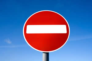 Photo of no entry road sign